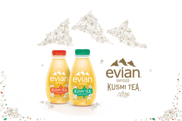 Evian infused kusmi tea mineral water lappoms lifestyle blog