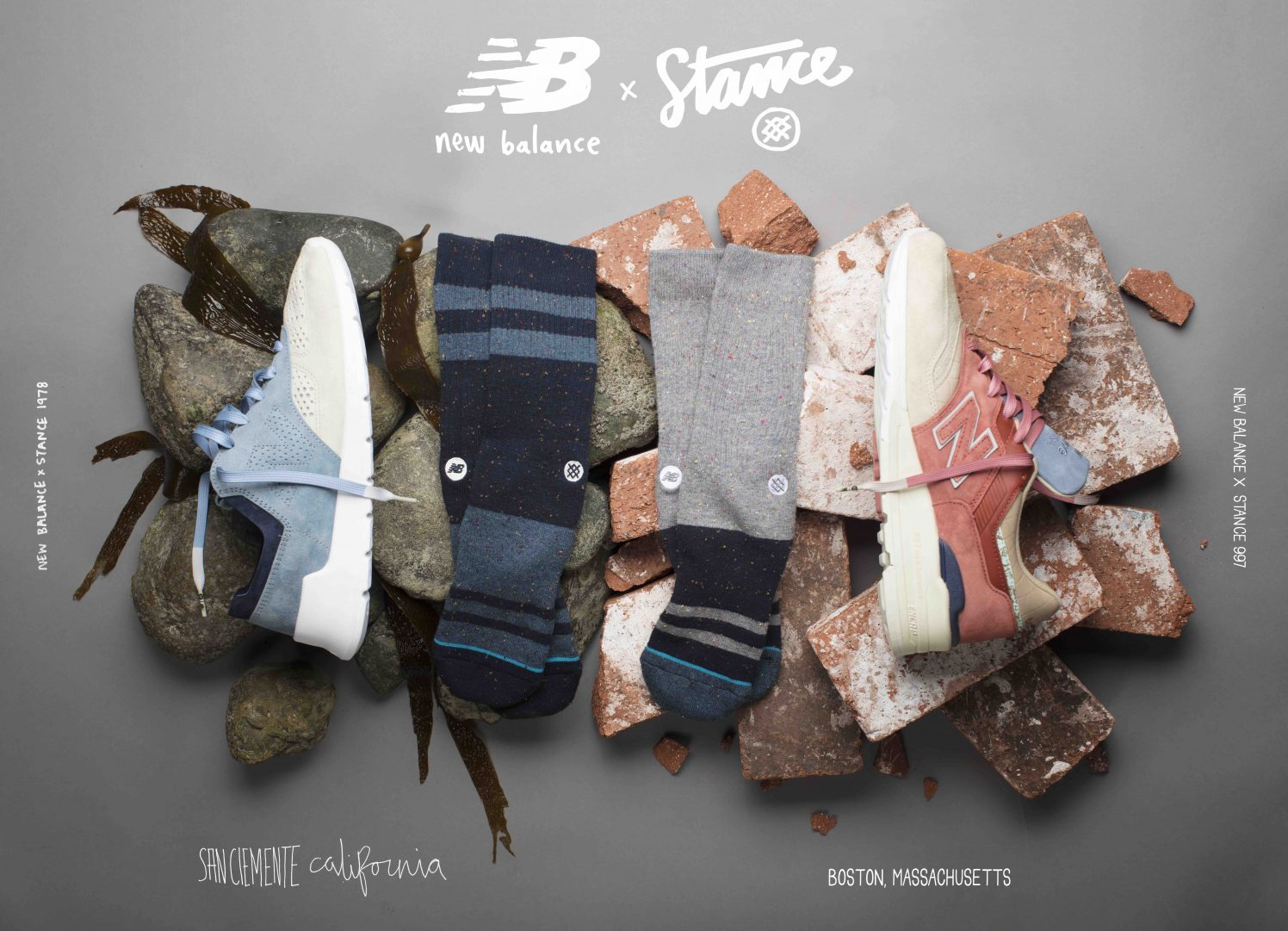 New Balance STANCE socks lappoms lifestyle blog collab capsule collection