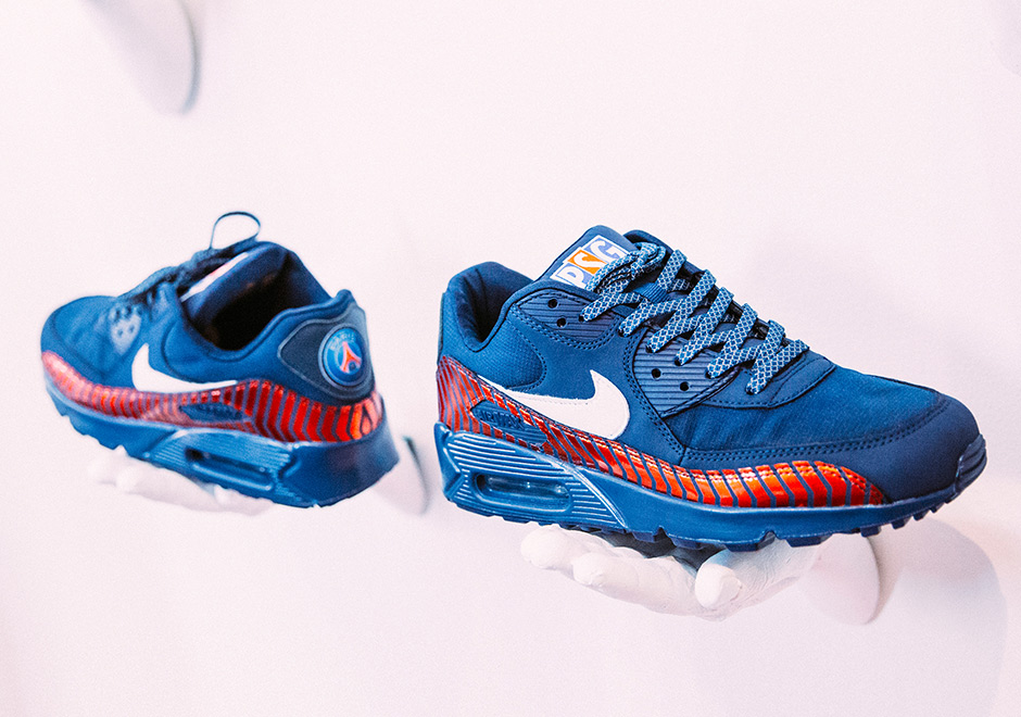 psg shoe gallery nike air max 90 paris saint-germain capsule collection lappoms lifestyle blog nike