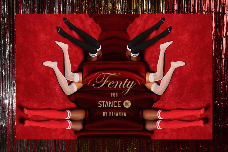 fenty stance rihanna socks lappoms lifestyle blog