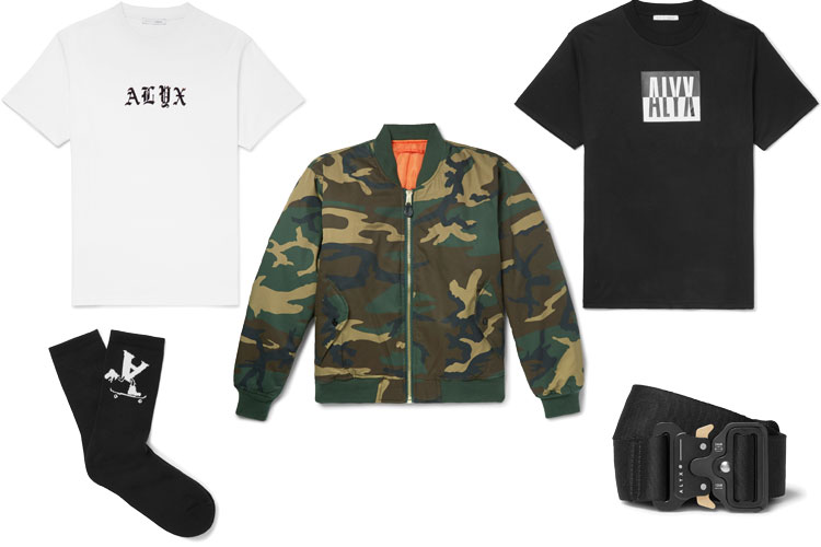 alyx studio streetwear mr porter collab lappoms lifestyle blog camo alpha industries bombers