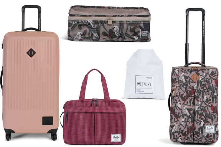 herschel travel collection bagage valise voyage lappoms lifestyle blog
