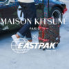 maison kitsune eastpak capsule collection bagages backpack lappoms lifestyle blog