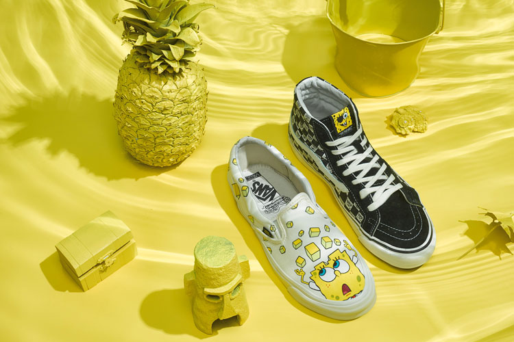 sk8-hi slip-on deck crewneck SP18 Vault Spongebob Vans Collection capsule lappoms lifestyle blog