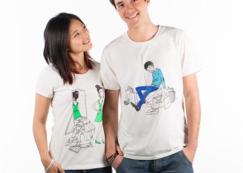 """Paire de T-shirts """"Shoppy"""" - 58€"""