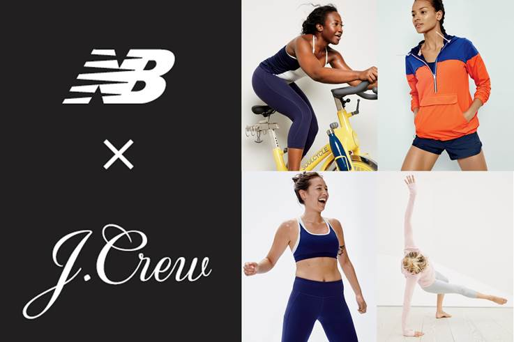 j.crew new-balance lappoms collab active wear