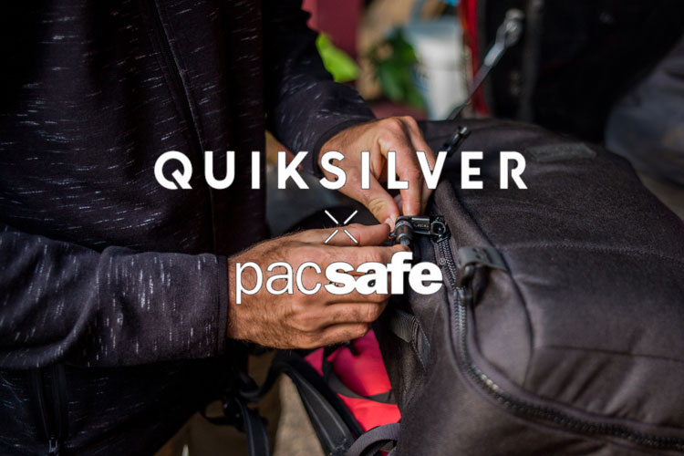 quiksilver pacsafe backpack collab lappoms lifestyle blog