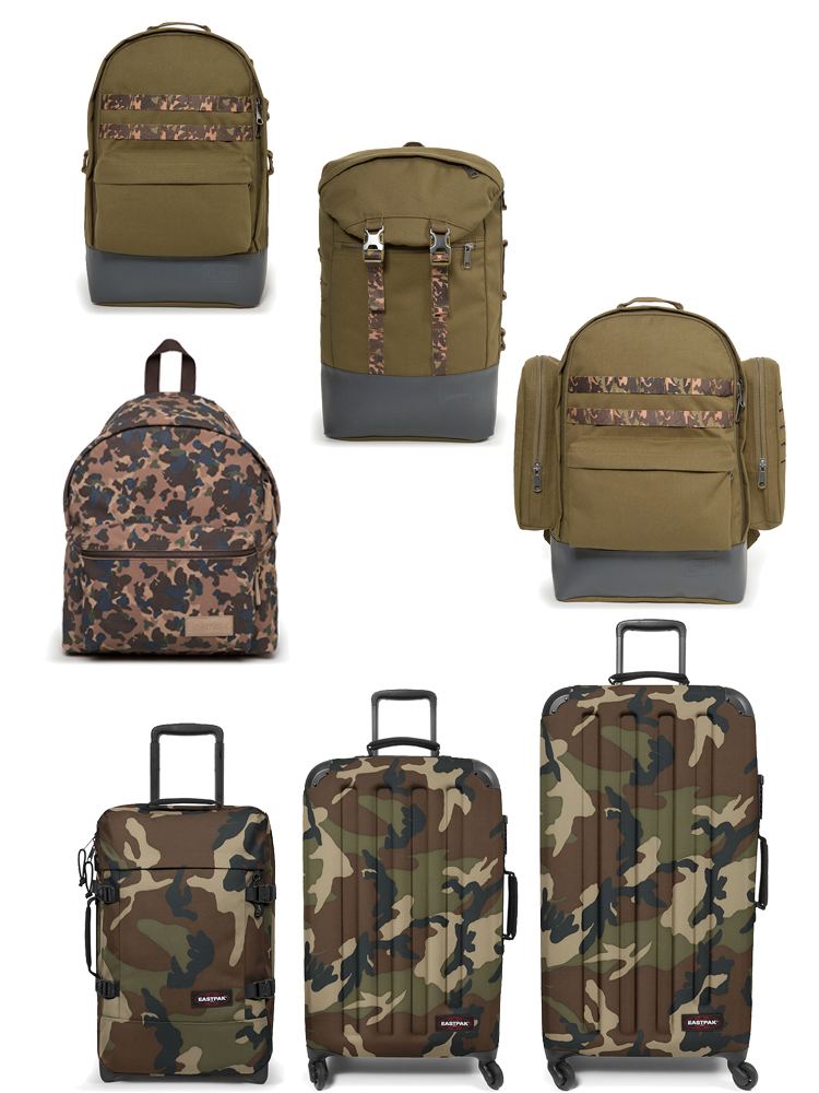 eastpak collection S/S 18 andy warhol camo sac a dos backpack faux fur lappoms lifestyle blog camo valise
