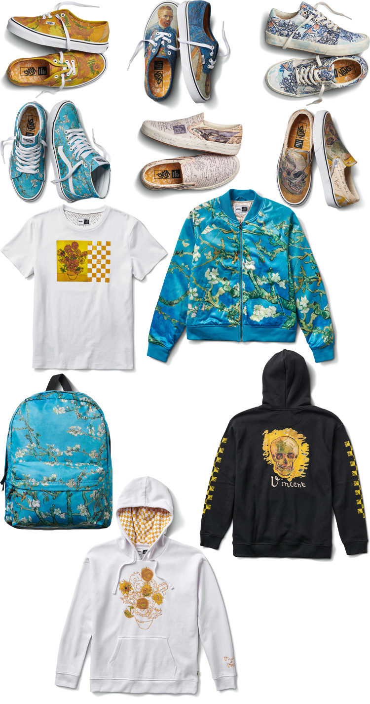 SLIP ON SK8 HI VINCENT VAN GOGH MUSEUM OVERSIZED TEE VANS EXCLUSIVE COLLABORATION LAPPOMS LIFESTYLE BLOG