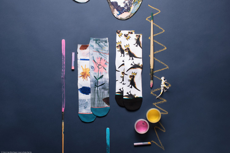 stance jean-michel basquiat socks lappoms lifestyle blog