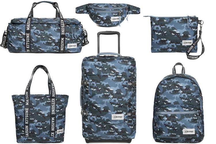 maison kitsune eastpak collab backpack lappoms lifestyle blog
