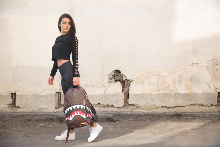 sprayground backpack shark damier rayon d or stockist lappoms lifestyle blog