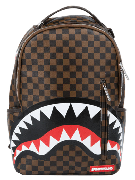 sprayground backpack shark damier rayon d or stockist lappoms lifestyle blog