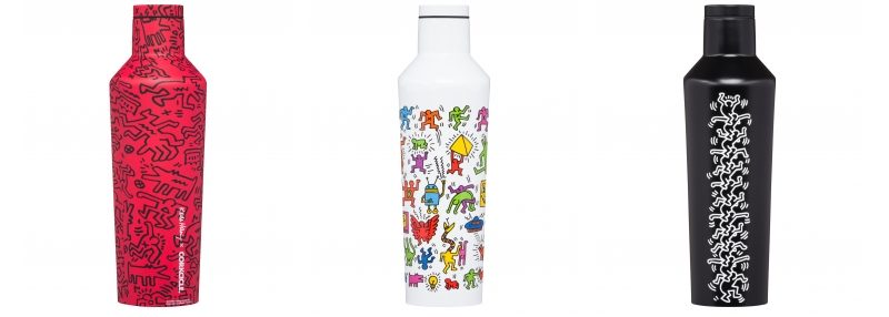 Keith Haring Corkcicle Eco Friendly Bottle Lappoms Lifestyle Blog Gourde