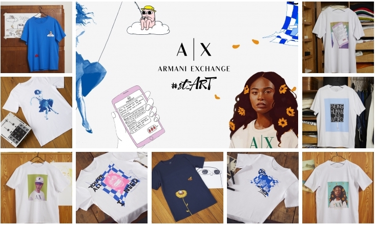 Armani Exchange #st_ART collection Lappoms Lifestyle Blog, BUNNY MICHAEL, Freddy Carrasco, Ketnipz, Jacob Rochester, Max Reed