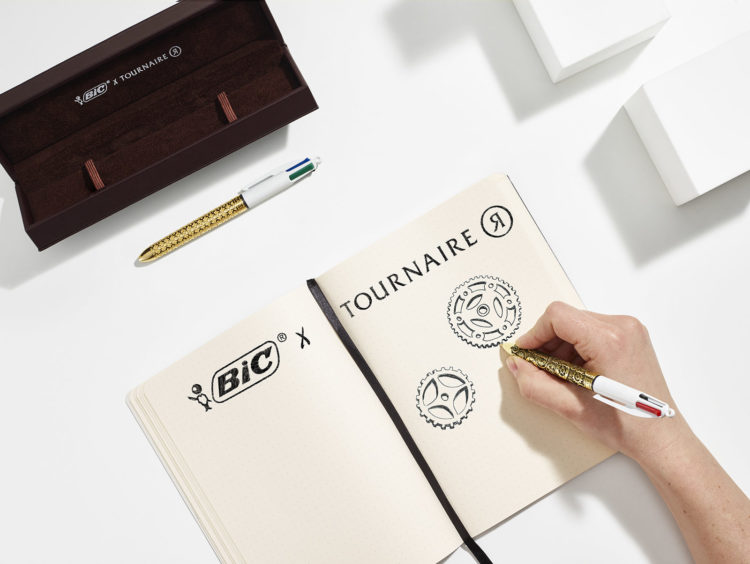 BIC 4 COULEURS TOURNAIRE ALCHIMIE ENGRENAGES BRONZE EDITION LIMITEE LAPPOMS LIFESTYLE BLOG