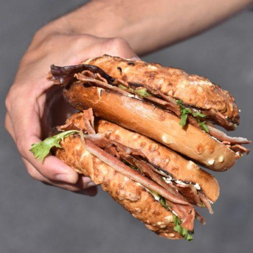 Bagel Corner, Grand Gousier, bacon vegetal, veggie, lappoms, Lifestyle blog