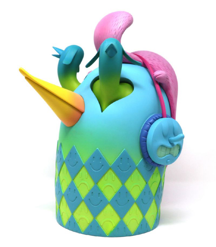 Alexone, beastie head, blue edition, art toys, medicom, Lappoms, lifestyle blog