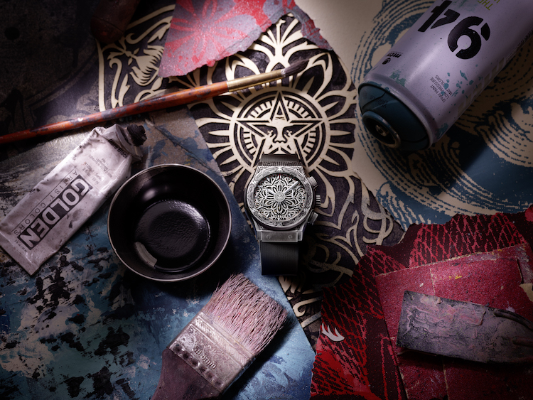 SHEPARD FAIREY, HUBLOT, CLASSIC FUSION CHRONOGRAPH, WATCHES, LAPPOMS, LIFESTYLE BLOG
